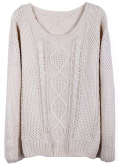 Beige Round Neck Broken Stripe Cable Sweater US$36.00  < Someone please buy this sweater for me and I will love you for all of time. I LOVE IT! Plus I could be John Watson for Halloween. AND IT'S ON SALE TO BUY IT BUY IT NOW