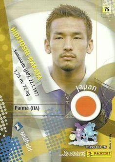 2002 Panini World Cup #75 Hidetoshi Nakata  Back