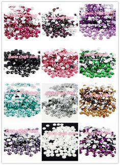 Lucia crafts 16 Colors for slection 5mm 500pcs/lot SS20 Flatback Rhinestones DIY Mobile Phone Nail Art Rhinestones 12040502(500)  Price: 0.98 USD