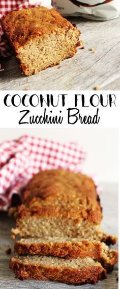 This Coconut Flour Zucchini Bread is an easy-to-make bread that requires only 8 ingredients. A dairy free gluten free and paleo bread perfect to enjoy alongside breakfast or as a snack. With a light coconut flavor this bread is slightly sweet and delic Coconut Flour Recipes, Dairy Free Recipes, Paleo Recipes, Low Carb Recipes, Whole Food Recipes, Cooking Recipes, Bread Recipes, Paleo Bread, Paleo Baking