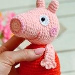 Свинка Пеппа бесплатная схема амигуруми