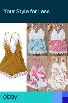 14a49ebf8f2 Cute Newborn Baby Girl Clothes Unicorn Floral Outfits Set Lace Jumpsuit  Romper