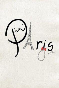 Happy Valentine's Day!!!!! Paris and a mostache LOVE IT!!