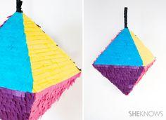 Geometric piñata DIY #cincodemayo