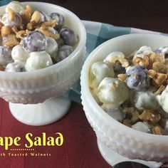 This is amazing. Try the grape salad with toasted walnuts that is now up on the blog. Recipe link in bio!! #shecookswithhelp #grapes #delicious #reunionfood