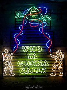 REPIN! This neon sign recreating the Ghostbusters movie poster is in the window at the Mexican restaurant Touche Hombre in Melbourne, Australia. Read a review of the quirky eatery at My Food Trail