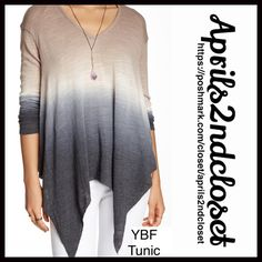 "YFB Young Fabulous & Broke Tunic 💟NEW WITH TAGS💟 Retail: $149 YFB Young Fabulous & Broke For Urban Outfitters Tunic Swing Pullover  * A relaxed, slouchy swing silhouette, loose knit  * Incredibly soft, stretch-to-fit fabric  * V-neck, & a handkerchief peplum hem  * About 26-31"" long, w/Hi-Lo hem  * An oversized fit;Size S Chest is about 45"" around  Fabric:Rayon, Cotton, & 2% Spandex Color:Black Striped  T-shirt #95800 marled 🚫No Trades🚫 ✅Offers Considered*/Bundle Discounts✅ *Please use…"
