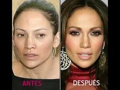 Jennifer Lopez plastic surgery before and after photo showing nose job, lip filler and buttocks. Did Jennifer Lopez get plastic surgery in real ? Makeup Tips, Beauty Makeup, Hair Beauty, Makeup Trends, Jlo Makeup, Maquillaje Jennifer Lopez, Jennifer Lopez Without Makeup, Celebs Without Makeup, Makeup Before And After