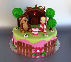 me - Sweetest site in Montenegro - Sofia Birthday Cake, Bear Birthday, Baby Girl Birthday, Masha Cake, Dora Cake, Masha Et Mishka, Bolo Minnie, Beautiful Birthday Cakes, Masha And The Bear