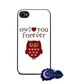 Owl Love You Forever iPhone 4 and 4s Cover Insomniac Arts, $15.99