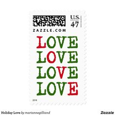 Holiday Love Postage Stamp