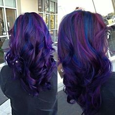 Dark Purple & Blue Hair