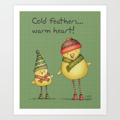 Two Chicks - green Art Print by Two Chicks Design - $18.00