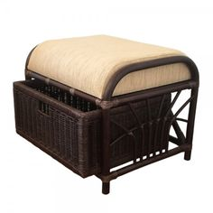 Rattan Ottoman Storage Pouf FootStool Jerry with Cushion and Drawer Dark Brown ** To view further for this item, visit the image link. (This is an affiliate link) Rattan Ottoman, Pouf Footstool, Rattan Furniture Set, Garden Furniture, Home Furniture, Ottomans, Pantry Storage Cabinet, Storage Cabinets, Bench With Storage