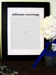 Printable 2 Year Missionary Countdown Calendar. $4.00, via Etsy.