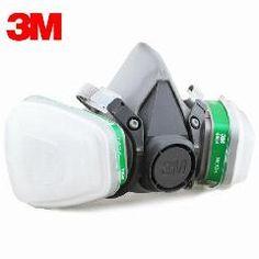 [ 20% OFF ] 3M Respirator 6200 + 6004 Reusable Half Face Mask Respirator Ammonia Methylamine Organic Vapor Cartridge 7 Items For 1 Set