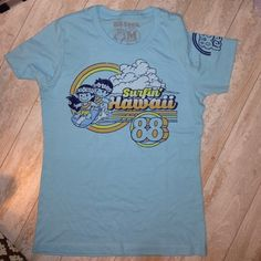 88 TEES Surfin Hawaii Ladies SS Shirt mediu 88 TEES Surfin Hawaii Ladies SS Shirt medium PReOwned Worn once ( I prefer tanks) From Waikiki Size medium Actual bust 19 inches unstreched Length 25 inches 88 tees Tops Tees - Short Sleeve