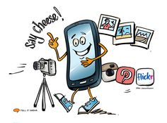Mobile Image Taking | Original Cartoon by Irma Zimmermann