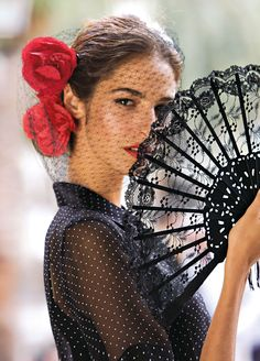 "Hi Ladies~tonight and tomorrow let's have fun pinning ""Miss Spanish Rose"" in reds and blacks."