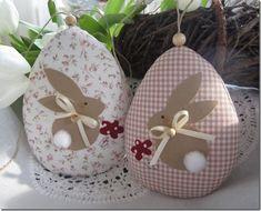 *Cute for Easter! Easter Egg Crafts, Easter Projects, Bunny Crafts, Felt Crafts, Easter Bunny, Fabric Crafts, Easter Eggs, Diy And Crafts, Happy Easter