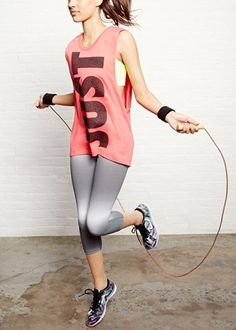 Look good, feel good! Nike muscle tank and capris.