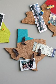 Show Hometown Pride with DIY State-Shaped Memo Boards | Brit + Co