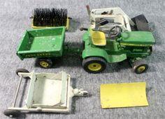 Vintage-John-Deere-Maintenance-Set-140-L-G-Tractor-w-Loader-Dump-Cart-6pc-Lot