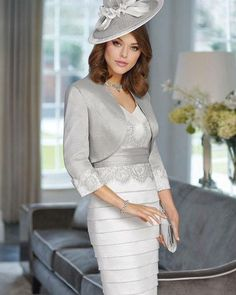 Elegant mother of the groom evening dresses like this silver grey design that features a jacket can be custom designed and produced to your specific style & taste. We are based in the USA and can provide custom formal dresses for the mothers of the wedding that are made to your specific requirements and preferences. You can modify any one of our designs.  We can also use any picture you have from the internet to create your custom mother of the groom dress. To get pricing and more details on…