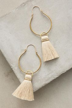 Not in love with the hoop but tassel earrings would be fun. They'd have to be a lighter color to stand out from my hair.