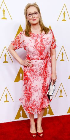 Meryl Streep's Red Carpet Style - In Max Mara, 2014 - from InStyle.com