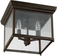 Capital Lighting Signature 3-Light Outdoor Flush Mount Old 9546OB | LampsUSA