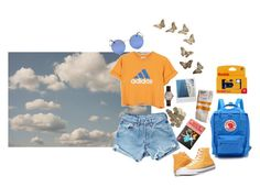 """summer"" by dxminica ❤ liked on Polyvore featuring WALL, Levi's, Shinola, adidas, Converse and Fjällräven"