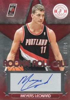 2012-13 Panini Totally Certified Basketball Rookie Roll Call Autographs Red #24 Meyers Leonard #'d /79 Portland Trail Blazers NBA Autograph Trading Card by Totally Certified. $25.00. 2012 Panini Group trading card in near mint/mint condition, authenticated by Panini Authentic