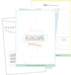 Un kit pour s'organiser - Diy Organisation Planner Organisation, Organization Bullet Journal, Organized Mom, Getting Organized, Filofax, Bujo, Agenda Planner, Planning And Organizing, Printable Paper