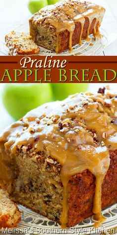This decadent Praline Apple Bread is the epitome of indulgence. Enjoy it for breakfast, brunch or as a mid-morning treat #applebread #pralineapplebread #apples #applerecipes #harvestapplebread #quickbreadrecipes #brunch #breakfast #holidaybaking #fallrecipes #breadrecipes #apple #southernfood #southernrecipes Apple Recipes, Bread Recipes, Baking Recipes, Sweet Recipes, Cake Recipes, Dessert Recipes, Fall Baking, Holiday Baking, Just Desserts