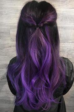 black-to-violet-ombre-500x755 ~ Pelo-largo.com