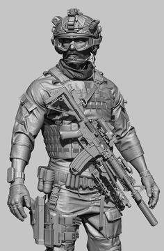 Hello Gentlemen, its been a while. This is my latest piece of work. I hope you like it. Zbrush Character, 3d Model Character, Cyberpunk Character, Character Modeling, Character Art, Character Design, Soldier Drawing, Airsoft, Special Forces Gear