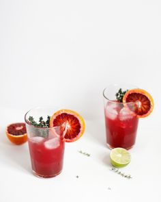 we love handmade | Drinks: Blutorange-Thymian-Ingwer-Gin-Cocktail | http://welovehandmade.at