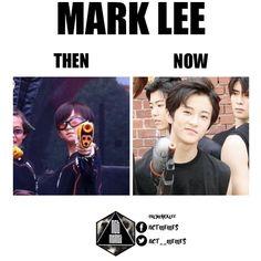 Mark is so handsome. But sm's like nah, ima dress u up like a clown/naruto