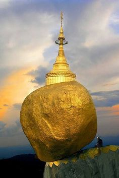 Balancing rock pagoda, Burma