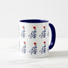 Love Tree Valentine Special Combo Mug at Just Made by Zazzle off with code Valentine Special, Tea Cups, Coffee Mugs, Tableware, How To Make, Gifts, Collection, Design, Dinnerware