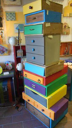 mobili creati con cassetti