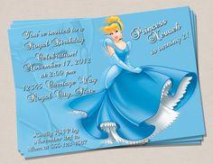 Cinderella Birthday Invitation by PerfectPrintsStudio on Etsy, $5.00
