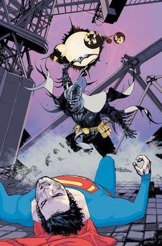 gothamart:  Batman/Superman by Travel Foreman