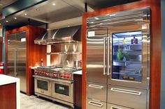 Sub-Zero and Wolf Appliances Living Kitchen Display in NJ Wolf Appliances, Kitchen Appliances, Slate Appliances, Sub Zero Appliances, Kitchen Cabinets, Kitchen Stove, Cooking Appliances, Cooking Gadgets, Cooking Tools