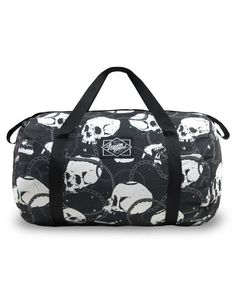 Liquor Brand Damen SKULLS AND CHAINS Tasche/Tote.Tattoo,Pin up Clothing Style