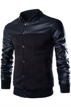 Black Stander Collar Bomber Jacket