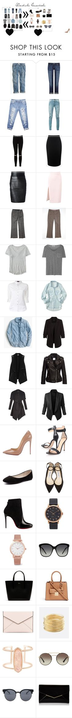 """Wardrobe Essentials"" by ebee2009 on Polyvore featuring J.Crew, DL1961 Premium Denim, Wet Seal, Yves Saint Laurent, Miss Selfridge, Alexander McQueen, Dsquared2, MSGM, Bebe and Gap"