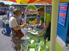 Zespri Sampling Roadshow Kiwi fruit samples were given out to customers outside major supermarkets nationwide. The campaign raised brand awareness, as of samples were given out by promotional staff supplied via Contact Field Marketing. Field Marketing, Kiwi, Proposal, The Outsiders, Promotion, Campaign, Fruit