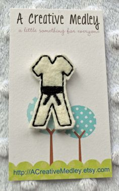 EMBROIDERY DESIGN Karate Tae Kwon Do uniform by ACreativeMedley, $1.99